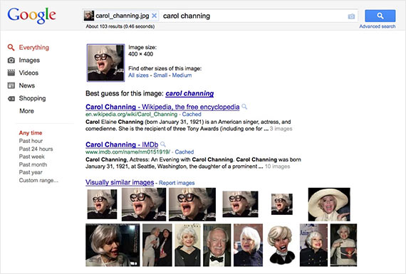 Google's Reverse Image Search