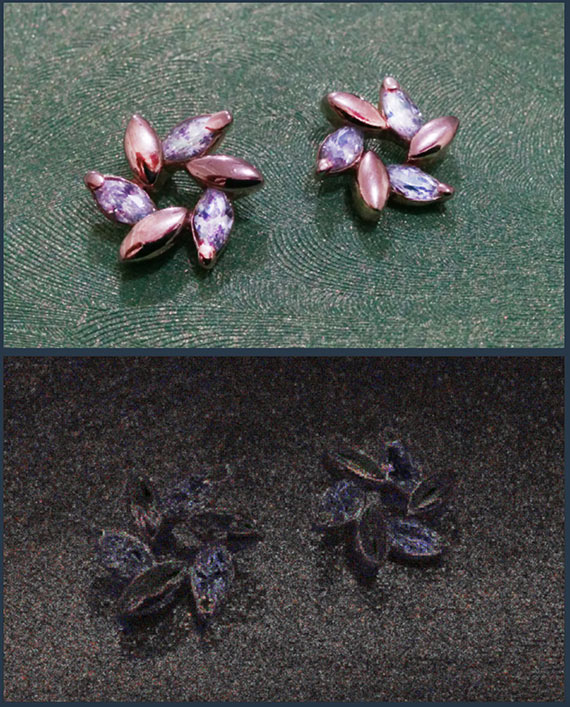 Image of jewelery that had been manipulated