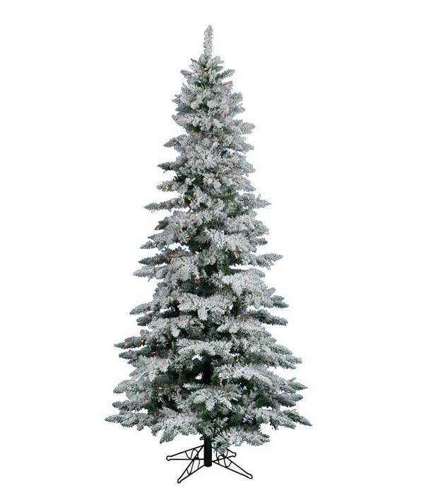 Vickerman Flocked Slim Utica Tree with 400 LED Light