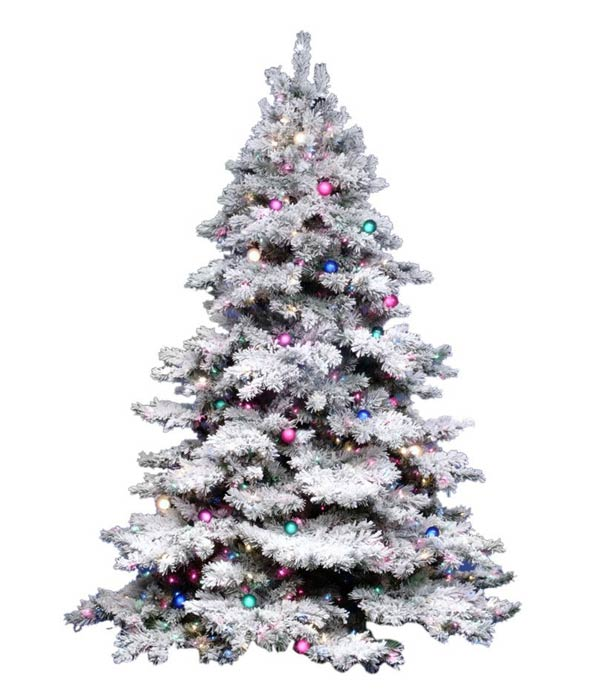 Vickerman Flocked Alaskan Pine Artificial Christmas tree