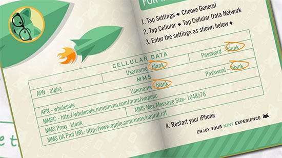 Mint SIM Cellular Data Details