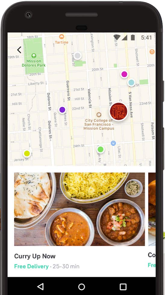 Postmates Map Tracking