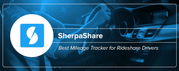 Best Mileage Tracking App for Rideshare Drivers: SherpaShare