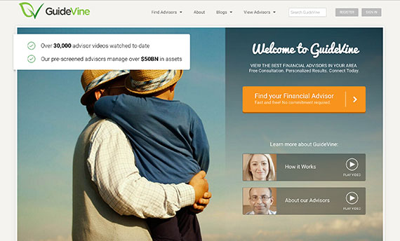 Screenshot of GuideVine
