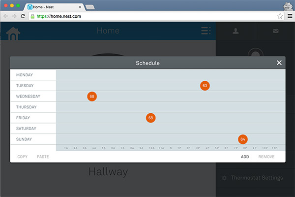 Nest Scheduling Interface