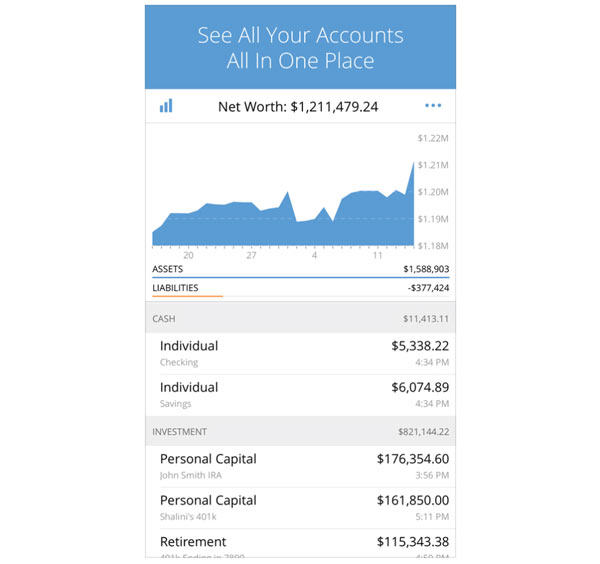 Personal Capital's app