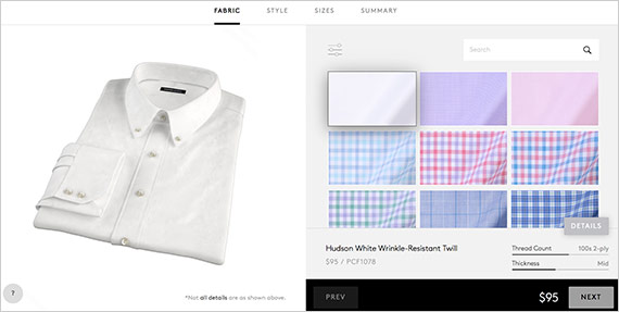 Screenshot of Proper Cloth's website