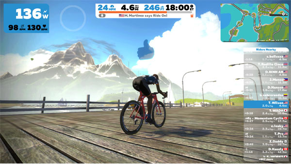 Zwift Course Ride