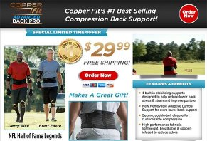 Copper Fit Advanced Back Pro