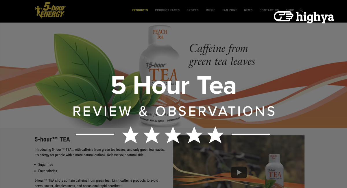 5 Hour Tea Reviews Will It Boost Your Energy