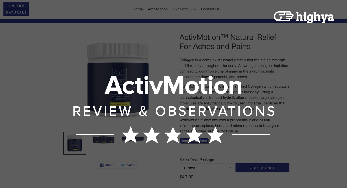 ActivMotion Review - Experience Pain Relief?