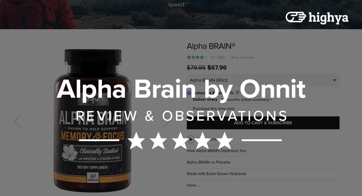 Alpha Brain By Onnit Reviews Does It Improve Your Mind
