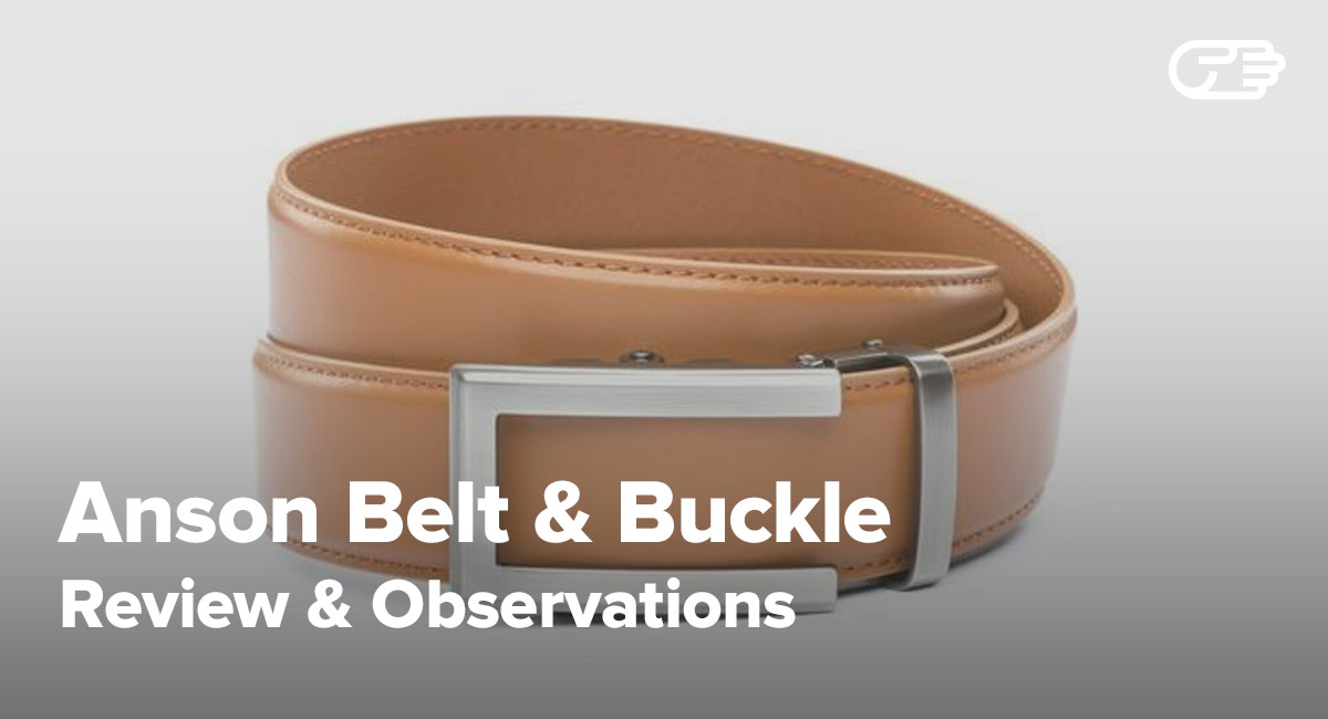 Strap Only Anson Belt /& Buckle Premium Leather Ratchet Belt Strap