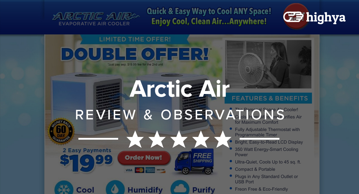 Arctic Air Evaporative Cooler Reviews Is It A Scam Or Legit