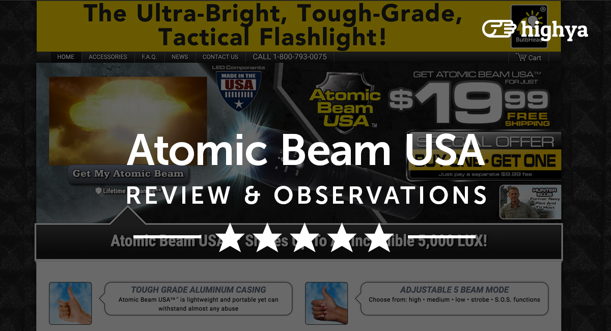 Atomic Beam Usa Tactical Flashlight Reviews Is It A Scam