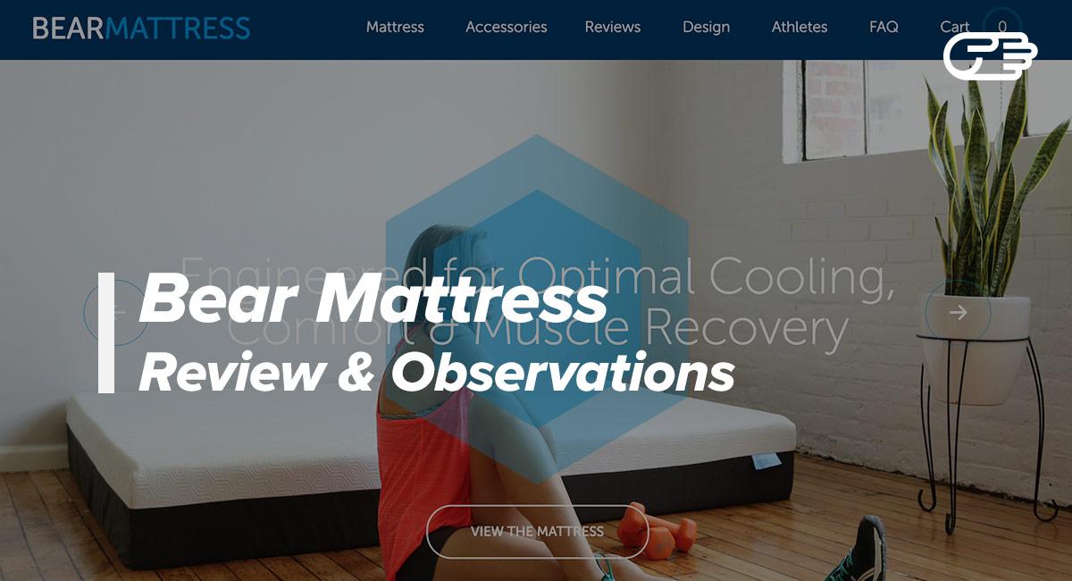Bear Mattress Reviews Bear Mattress vs Leesa Casper
