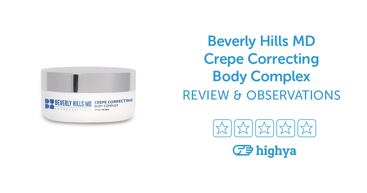 Is beverly hills md crepe correcting body complex a scam
