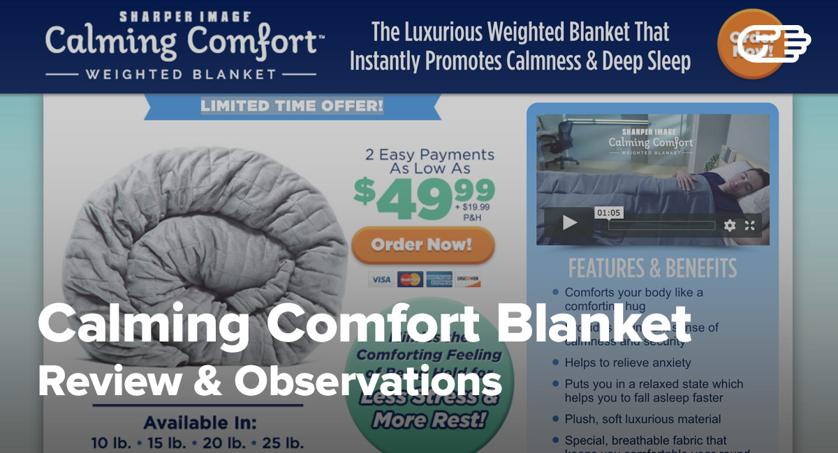 Calming Comfort Blanket Reviews Is It A Scam Or Legit