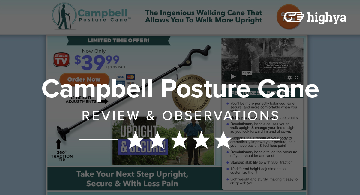 Campbell Posture Cane Reviews What Customers Are Sharing