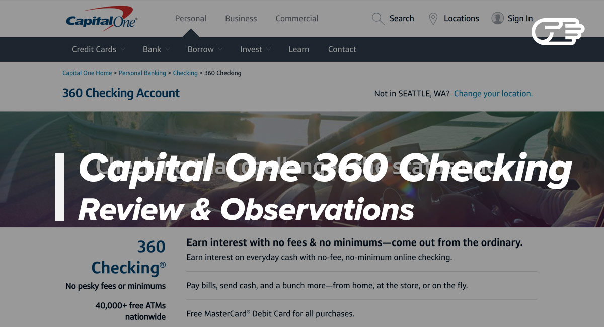 Capital One 360 Checking Account Reviews - No Fee Checking Account?