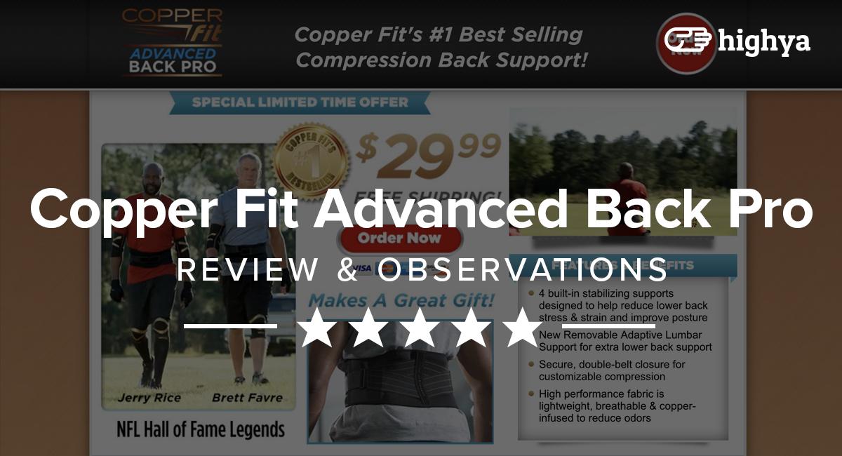 Copper Fit Advanced Back Pro Reviews - Is it a Scam or Legit?