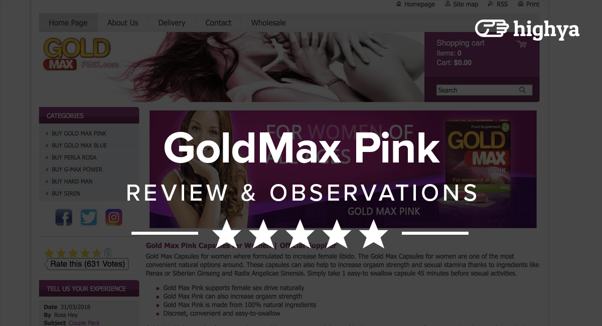 GoldMax Pink Reviews - Does It Work or Just Hype?