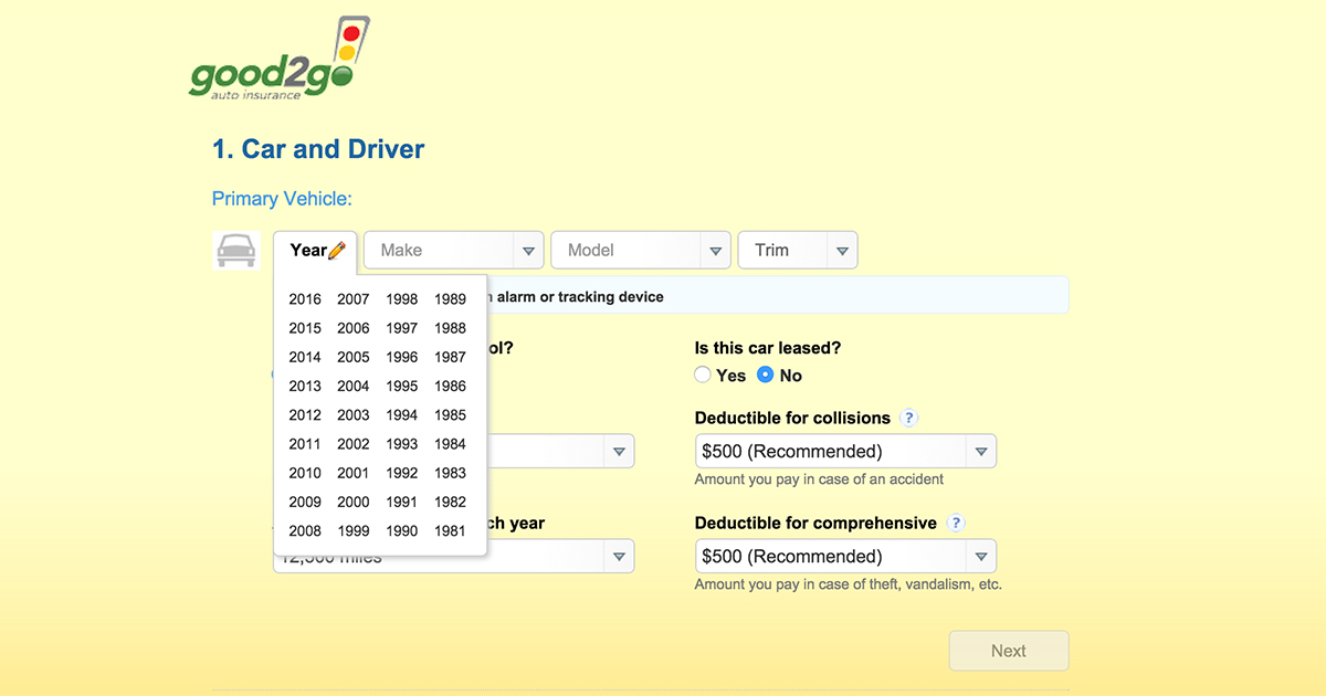Car Insurance Quote Search Engine