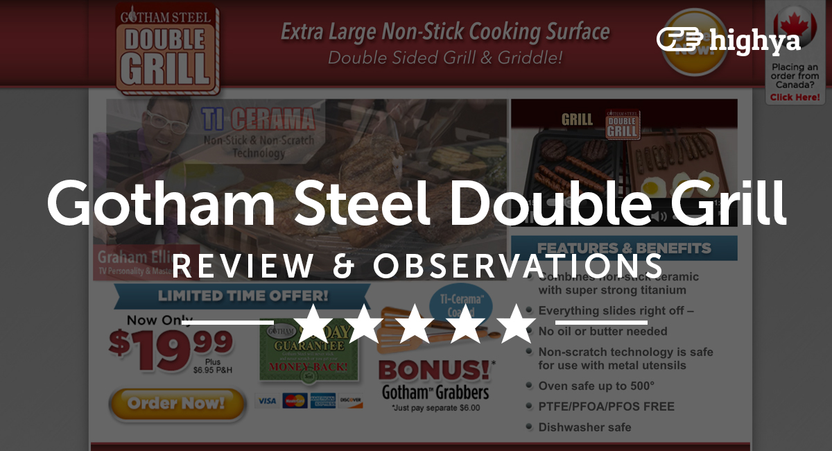 Gotham Steel Double Grill Reviews Is It A Scam Or Legit