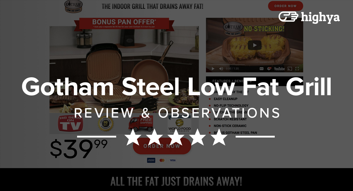 Gotham Steel Low Fat Grill Reviews Is It A Scam Or Legit