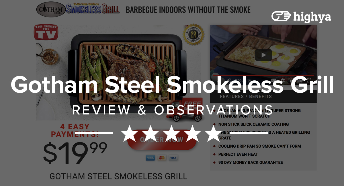 Gotham Steel Smokeless Grill Reviews What Customers Are Saying