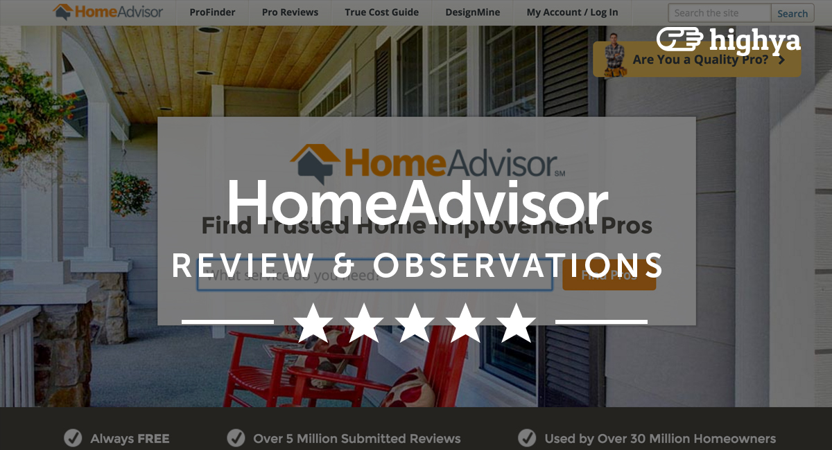 Homeadvisor reviews is it a scam or legit for Home advisor