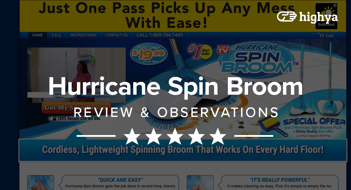 Hurricane Spin Broom Reviews - Is it a Scam or Legit?