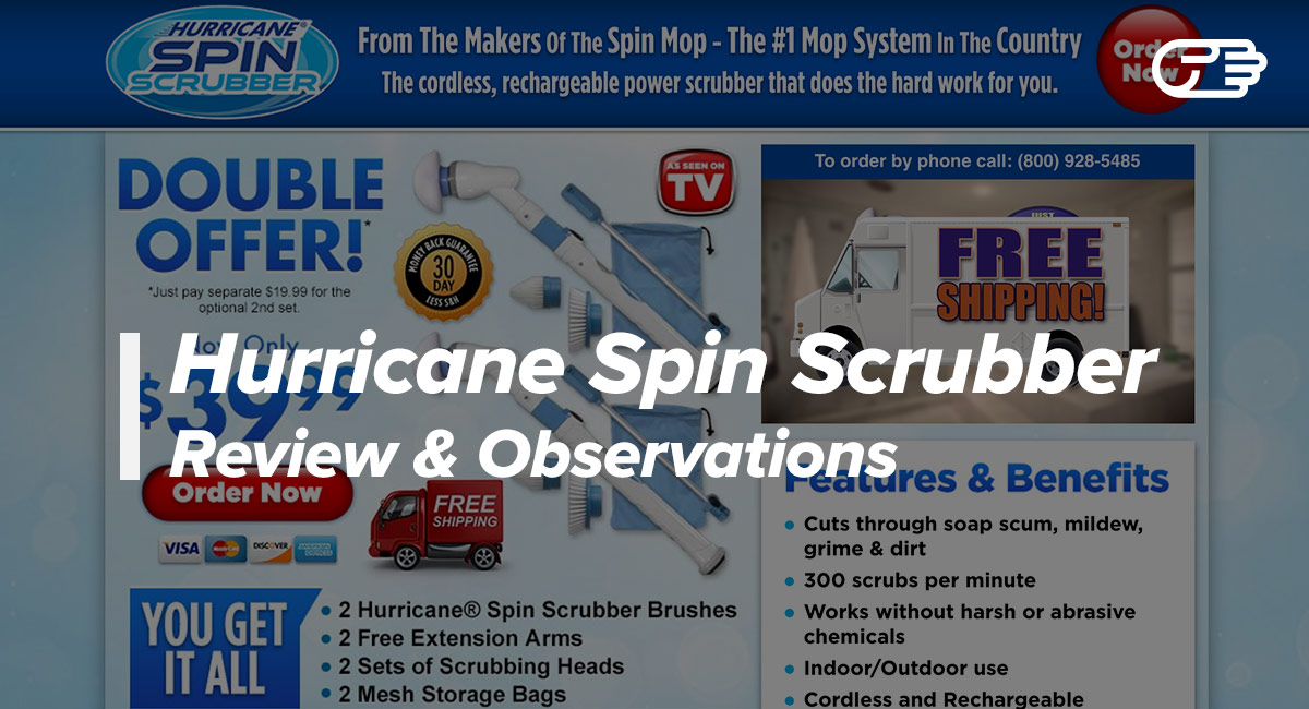 hurricane spin scrubber reviews is it a scam or legit. Black Bedroom Furniture Sets. Home Design Ideas