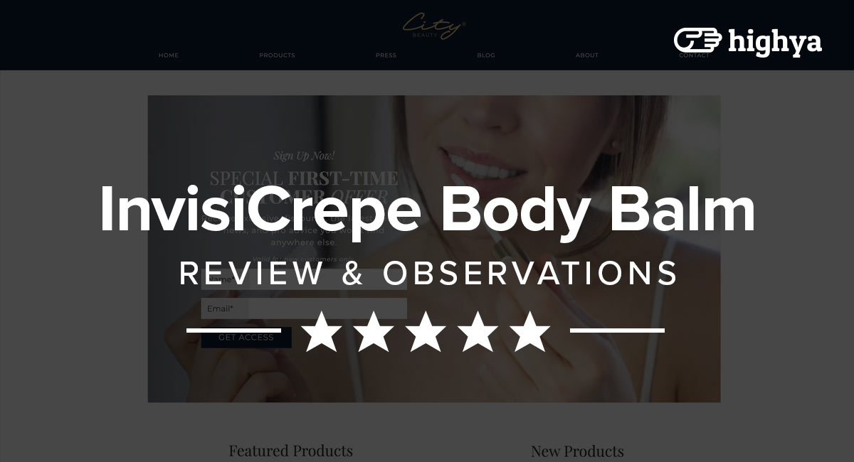 invisicrepe body balm reviews