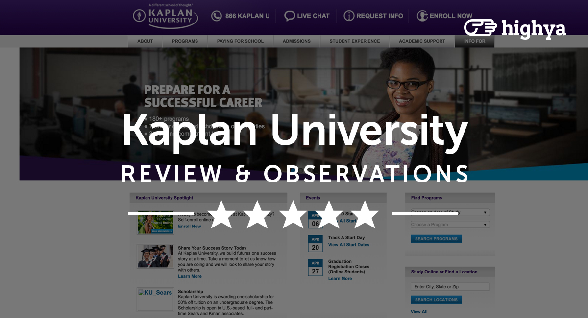 kaplan college reviews Kaplan college online programs can help you acquire higher education from any location visit our website to learn about these programs in detail.
