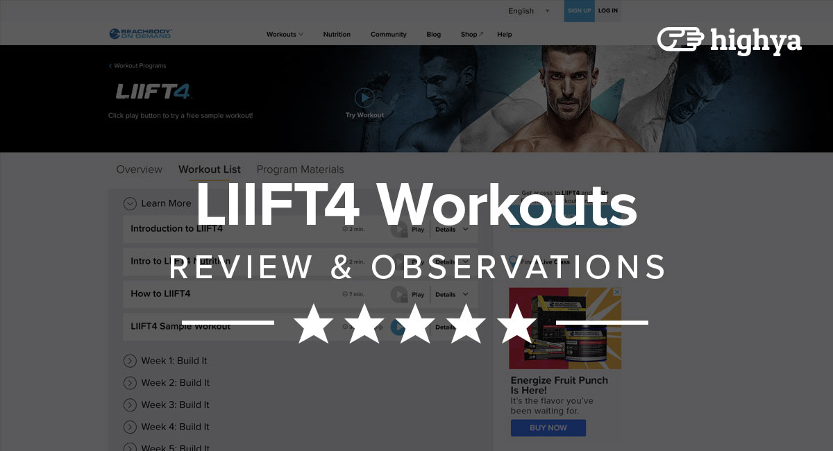 LIIFT4 Workouts Reviews - Hype or Legit?
