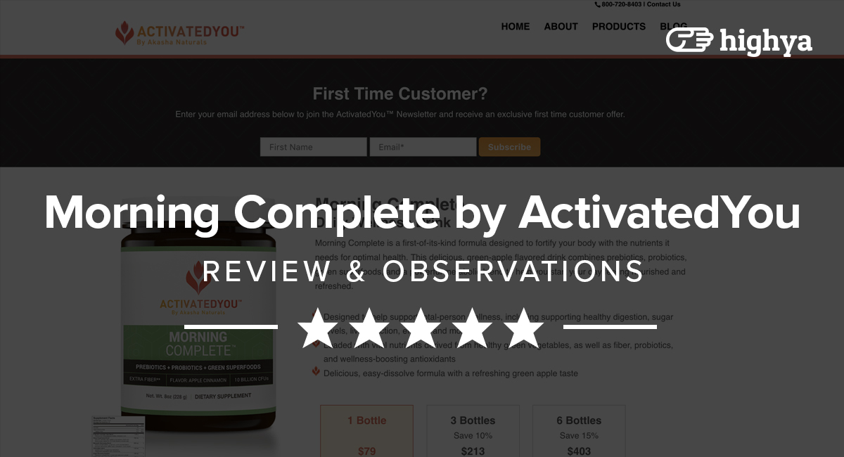 Morning Complete by ActivatedYou Reviews - Is it a Scam or Legit?