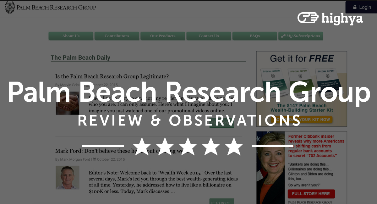 Palm Beach Research Group Reviews   Is it a Scam or Legit?