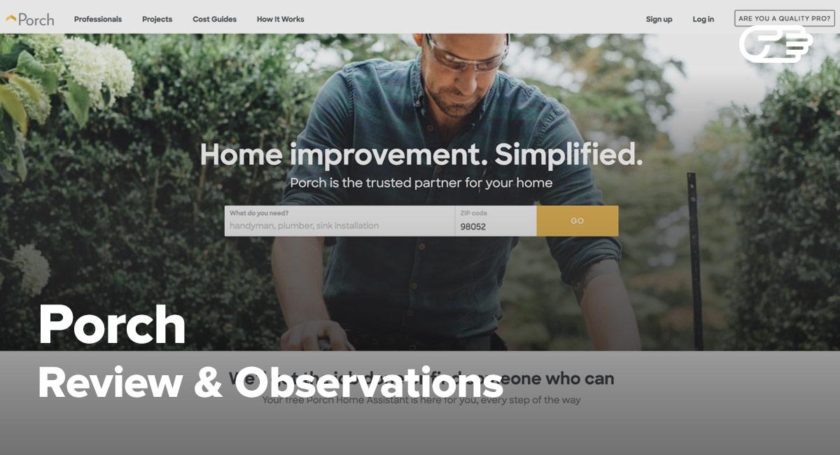Porch.com Reviews - Effective Way to Home Improvement?
