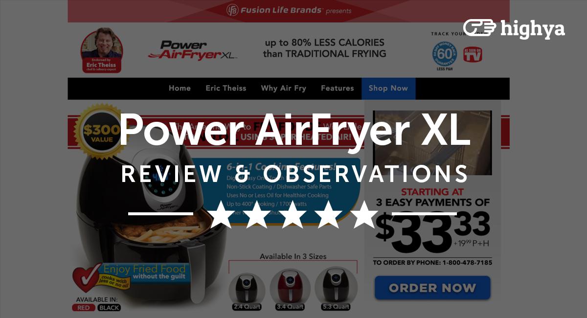 Power Air Fryer Xl Reviews Is It A Scam Or Legit