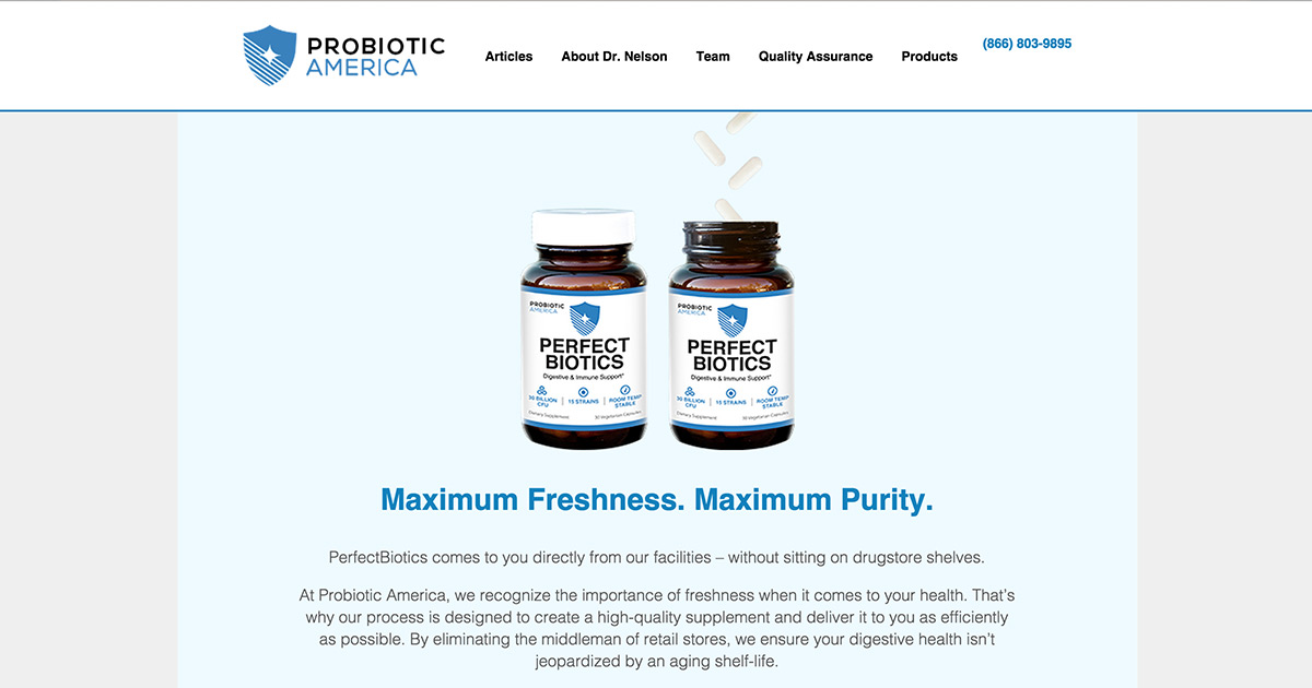 Reviews of probiotics america online for Perfect drink pro review