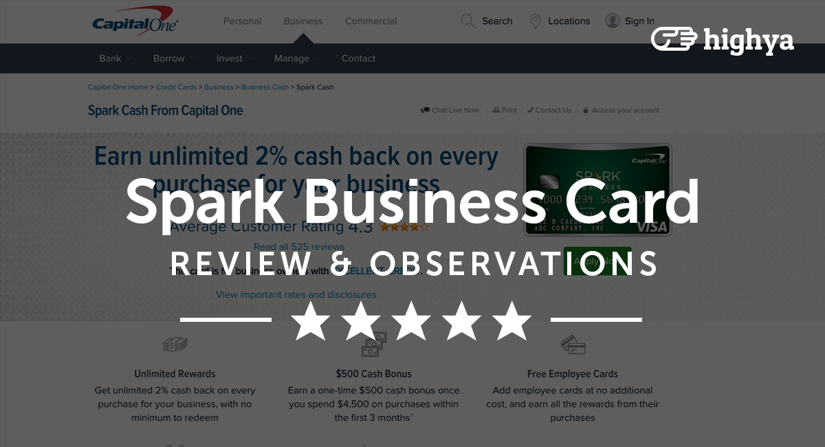 spark cash business by capital one reviews is it a scam or legit - Spark Business Card