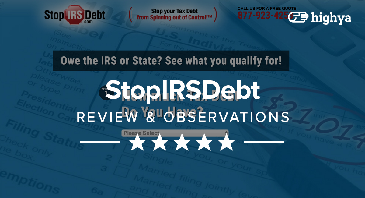 StopIRSDebt Reviews - Is it a Scam or Legit?