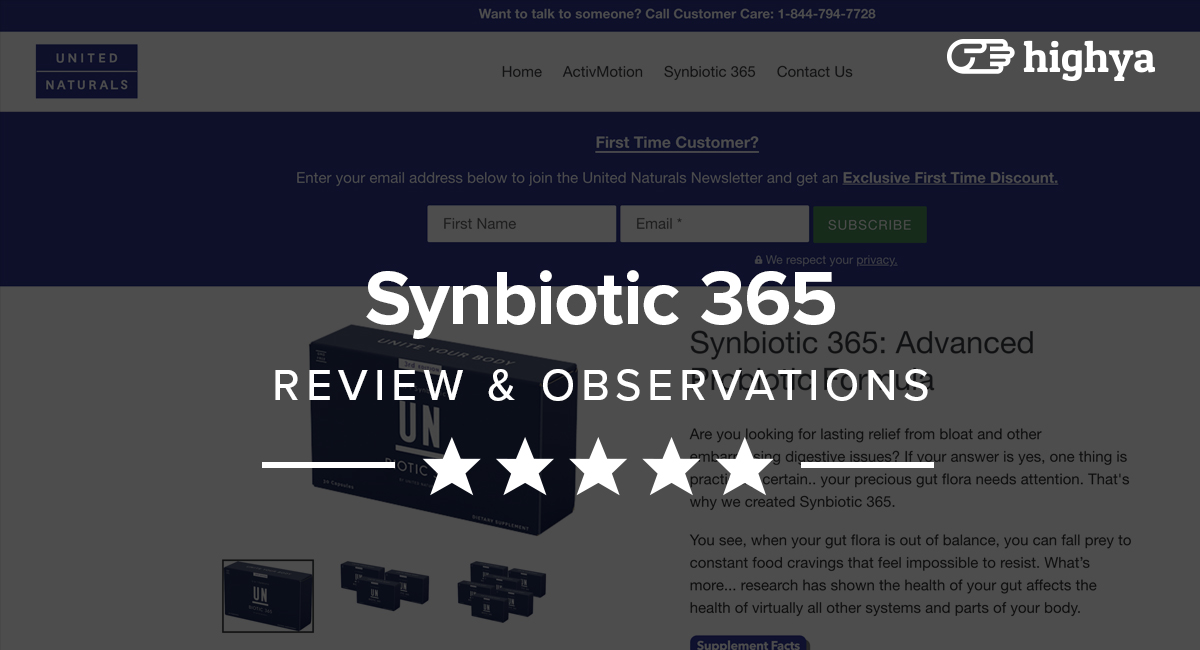 Synbiotic 365 Reviews Benefits Effectiveness Side