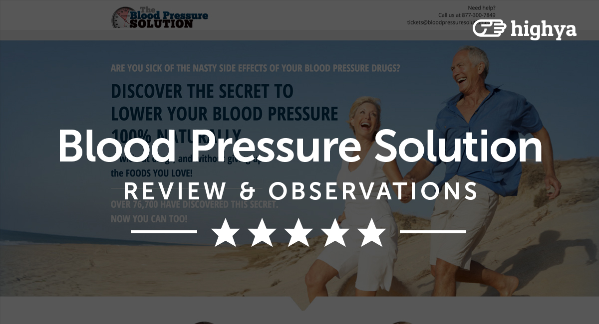 The blood pressure solution reviews is it a scam or legit fandeluxe Images