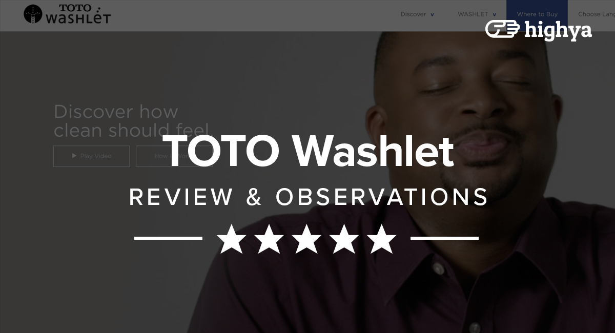 TOTO Washlet Reviews - The Perfect Bidet?