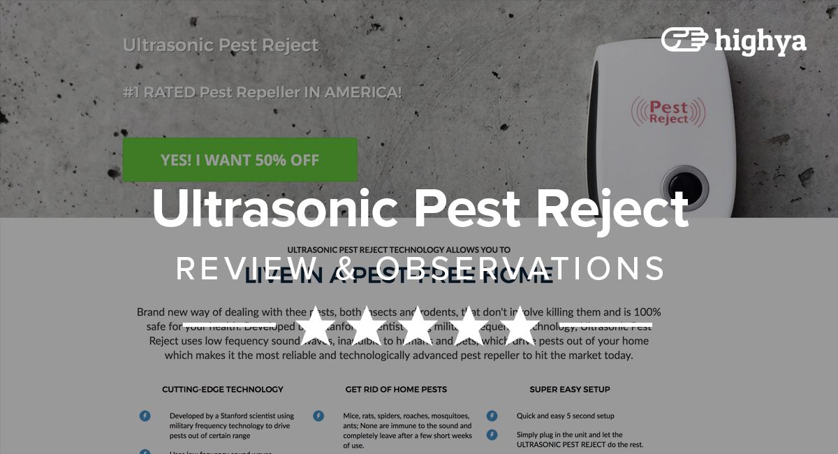 Ultrasonic Pest Reject Reviews - Is it a Scam or Legit?
